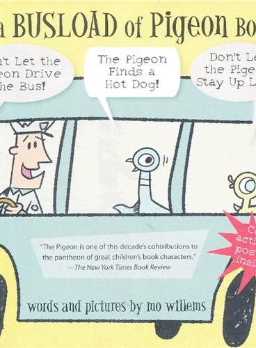 It's a Busload of Pigeon Books!一车的鸽子之书!(莫·威廉斯作品,精装) ISBN 9781423175896
