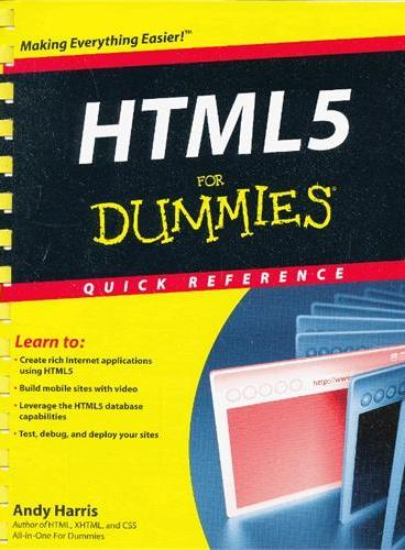 Html5 For Dummies Quick Reference 9781118012529