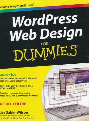 Wordpress Web Design For Dummies 9780470935033