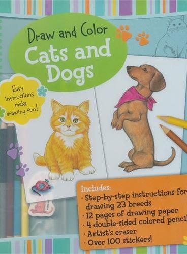 Draw and Color: Cats and Dogs(ISBN=9781607103264)