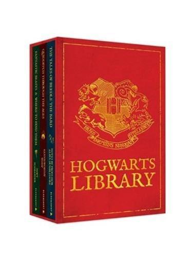 The Hogwarts Library Boxed Set [Hardcover] 《哈利·波特在魔法学校读的书》 套装(含《诗翁彼豆故事集》、《神奇动物在哪里》、《神奇的魁地奇球》;精装) ISBN9781408834824