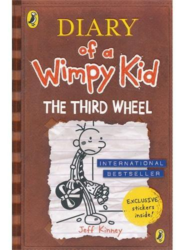 Diary of a Wimpy Kid 7: The Third Wheel 小屁孩日记7:电灯泡(英国版,平装) ISBN9780141348568