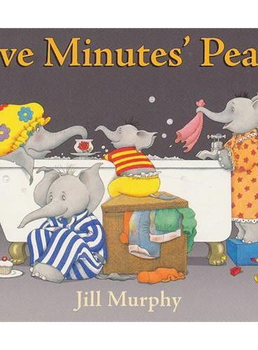 Large Family:Five Minutes' Peace [Board book] 大象一家:让我安静五分钟(卡板书) ISBN9780399257070