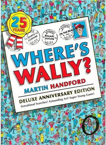 Where's Wally Deluxe 25th Edition 威利在哪里25周年豪华版 ISBN9781406340396