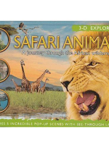 3-D Explorer: Safari Animals 3D探索系列:野生动物(立体书) ISBN9781607102878