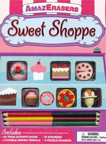 AmazErasers: Sweet Shoppe 神奇橡皮擦:糖果铺(平装大开本) ISBN9781607104315