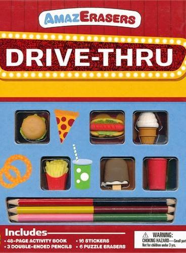 AmazErasers: Drive-Thru 神奇橡皮擦:汽车餐厅(平装大开本) ISBN9781607104322