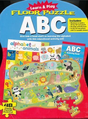 Learn and Play: Floor Puzzle ABC 边学边玩:拼图学字母(玩具套装书) ISBN9781607104230
