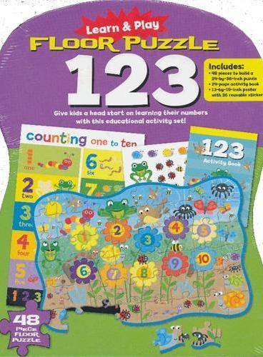 Learn and Play: Floor Puzzle 123 边学边玩:拼图学数数(玩具套装书) ISBN9781607104247