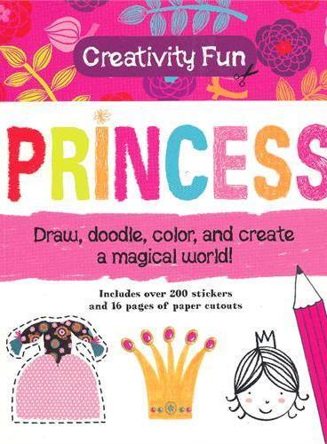 Creativity Fun: Princess 趣味创意:公主世界(绘画、涂色、贴纸书) ISBN9781607103240