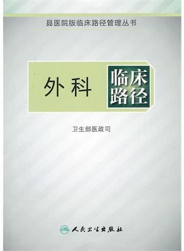 外科临床路径(临床路径管理丛书)