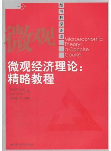 微观经济理论:精略教程(经济科学译库)