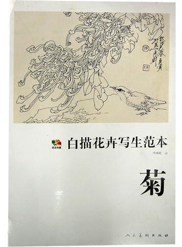 范本传真·白描花卉写生范本菊