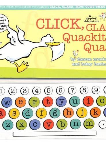 Click, Clack, Quackity-Quack: A Typing Adventure 喀哩,喀啦,哞:会打字的牛(玩具书) ISBN9781416955177