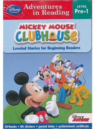 Adventures in Reading Mickey Mouse Clubhouse Boxed Set 迪士尼阅读套装:米奇妙妙屋(Level Pre-1) ISBN9781423161059