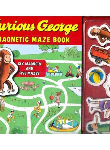 Curious Georage Magnetic Maze Book 好奇猴乔治迷宫书 ISBN 9780547643021