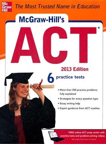 MCGRAW-HILL`S ACT, 2013 EDITION(ISBN=9780071792929)