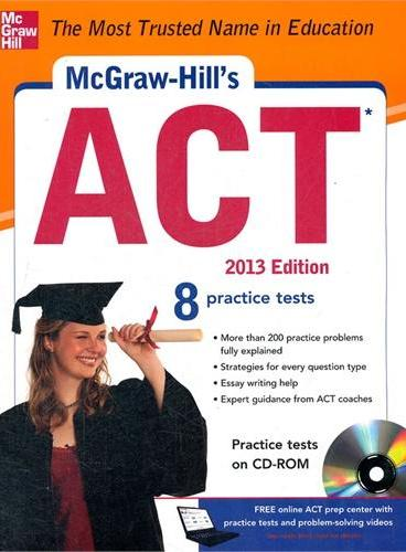 MCGRAW-HILL`S ACT WITH CD-ROM, 2013 EDIT(ISBN=9780071792981)
