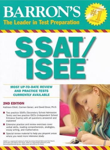SSAT/ISEE 2ND EDITION  ISBN=9780764140907