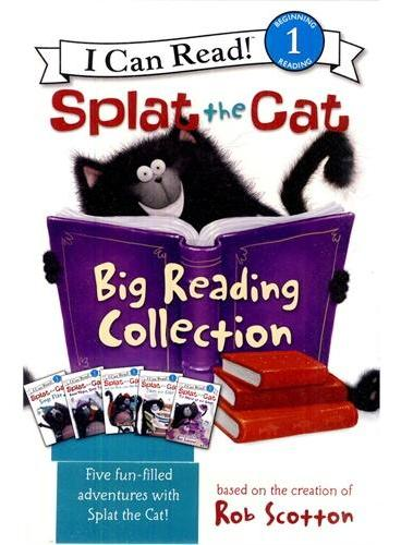 Splat the Cat: Big Reading Collection 小猫雷弟故事集(五册)(I Can Read, Level 1) ISBN9780062090294