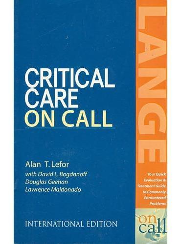 病危护理指南Critical Care on Call