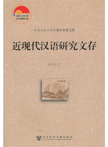 近现代汉语研究文存