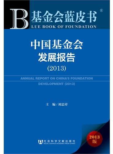 基金会蓝皮书:中国基金会发展报告(2013)