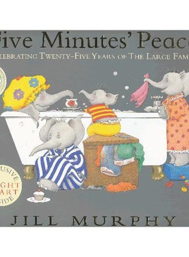 Large Family: Five Minutes' Peace 大象一家:让我安静五分钟(1987年美国《父母杂志》最佳幼儿图画奖,内含儿童身高尺) ISBN9781406330120