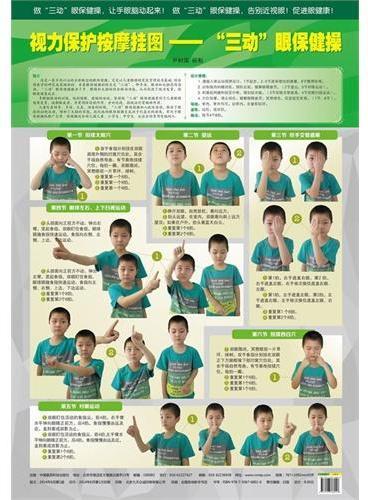 """视力保护按摩挂图——""""三动""""眼保健操"""