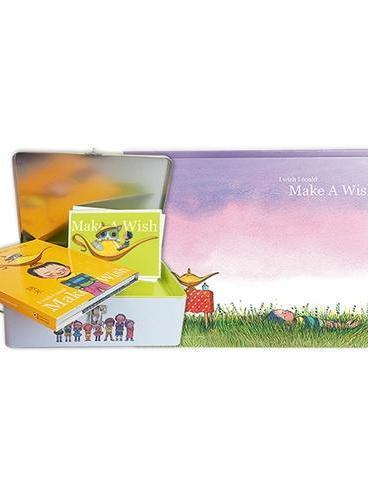 幾米礼品套装《愿望宝盒》(《如果我可以许一个愿望》精装图书+全新海报与明信片+精致收纳铁盒)