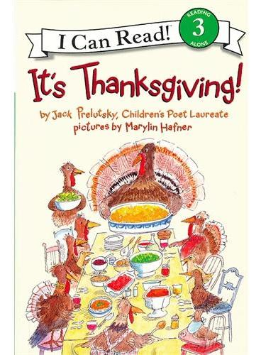 It's Thanksgiving!感恩节快乐!(I Can Read,Level 3)ISBN9780060537111