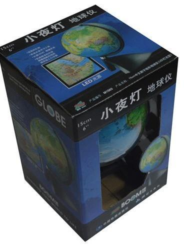 博目地球仪:15cm中文数字地形地球仪(LED灯光型)