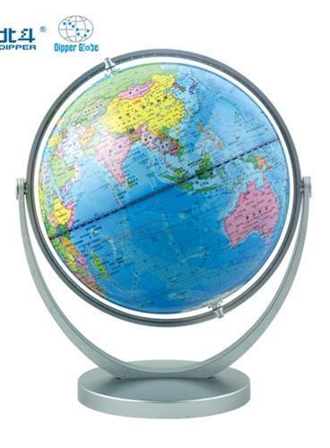 地球仪(20cm倾角万向·中学生地理学习必备)附赠世界知识读本