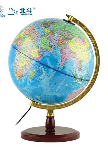 地球仪(20cm灯光地球仪 中学地理学习必备 金属弓形支架 )