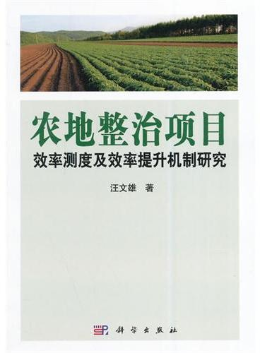 农地整治项目效率测度及效率提升机制研究