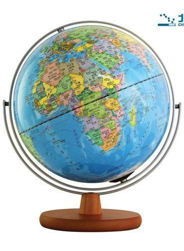 地球仪(30cm政区版·万向金属支架·实木底座·中英文对照)