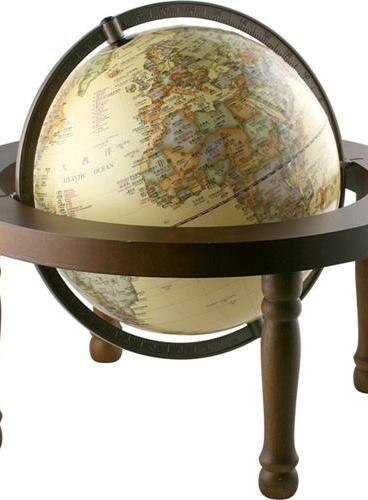 地球仪(25cm台式木质底座·中英文对照·仿古版)
