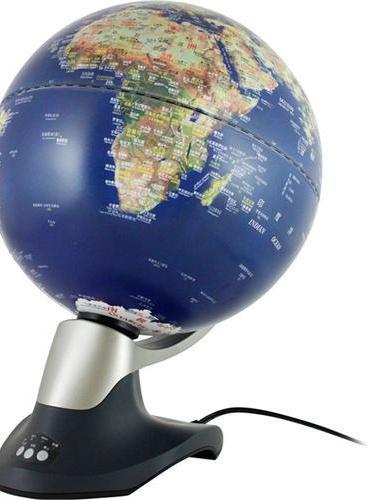 30cm中英文卫星影像灯光自转地球仪