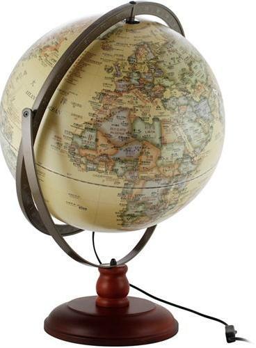 43cm桌面木座灯光地球仪(仿古版)