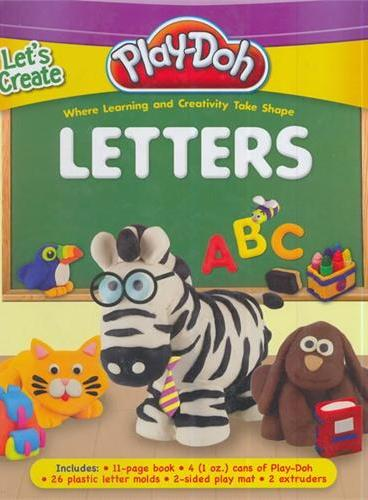 Play-Doh: Let's Creat Letters(含6盒陪乐多彩泥、10个字母模具,2个挤压模具)ISBN9781607107736