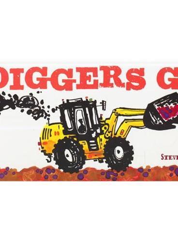 Diggers Go 挖掘机开走了(卡板书) ISBN9781452118642