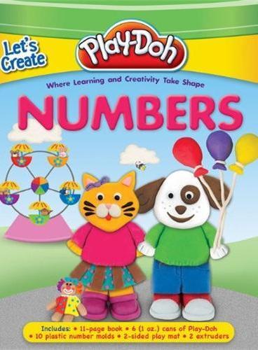 Play-Doh: Let's Creat Numbers(含6盒陪乐多彩泥、10个数字模具,2个挤压模具)ISBN9781607107682