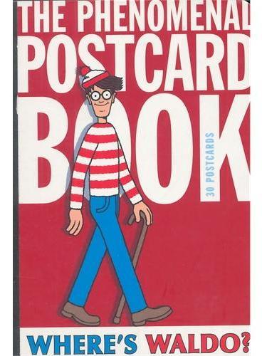 Waldo Phenomenal Postcard Book 威利在哪里?明信片书ISBN9780763654160