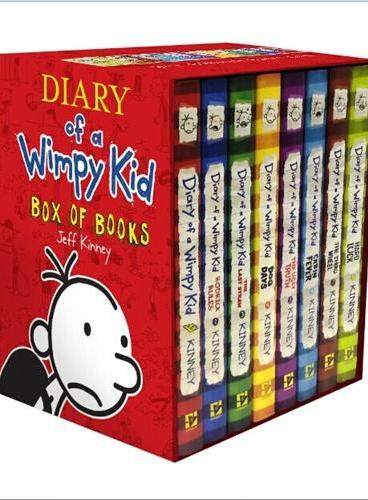 Diary of a Wimpy Kid(Boxed Set Books #1-8) 小屁孩日记套装(美国国版,1-8)ISBN9781419715457
