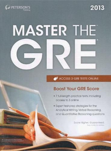 Master the GRE 2013