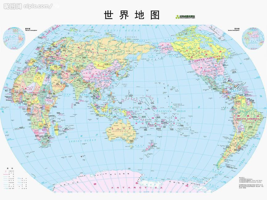 世界地图(四全开豪华挂图)(2015版)