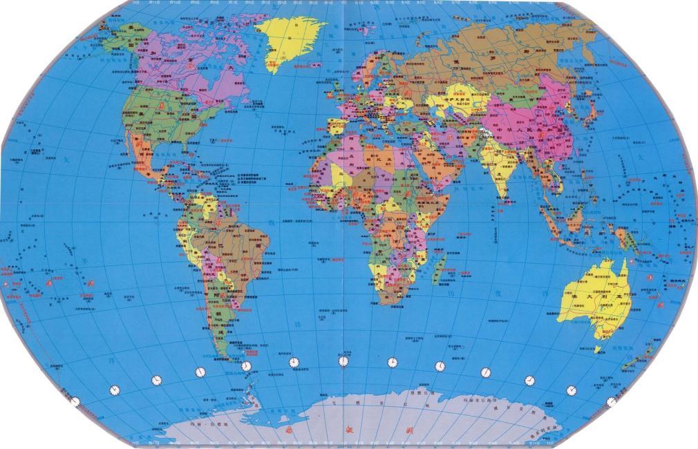 世界地图(全开精装贴图)(2015版)