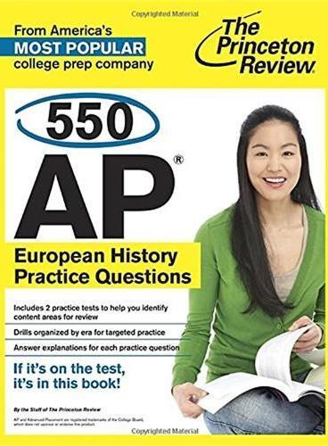 550 AP EUROPEAN HISTORY PRACTICES  美国大学预修课程系列丛书之《欧洲历史练习题550道》