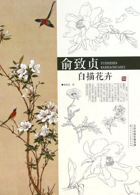 俞致贞白描花卉
