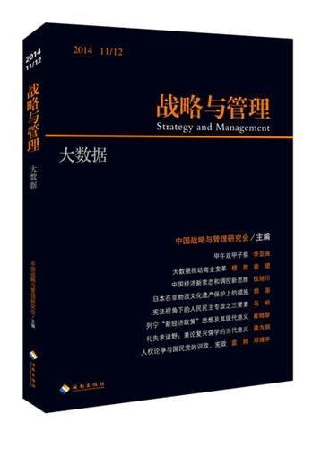 战略与管理:大数据(2014 11/12 )
